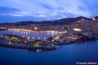 syros island casa del sol villa nightlife